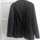 Теплый полушерстяной трикотажный пиджак Uniqlo р.L