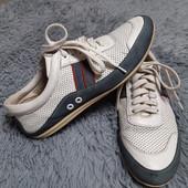 Туфли-кроссовки с перфорацией, натуральная кожа,стелька 26 см