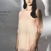 Шикарная нежная удлиненная блуза Esmara Германия размер евро 40