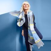 ☘ Мягкая легкая шаль от Tchibo (Германия), размеры: 200 на 100 см