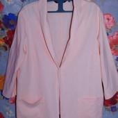 Очень классный льняной пиджак накидка р-р 20