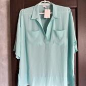 Фирменная новая красивая блуза с удлиненной спинкой р.14-16