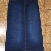 Длинная джинсовая юбка. Размер 18
