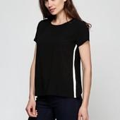 Стильная черная блуза из струящейся вискозы 36 evro