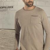 Хлопковый пуловер 3 сезона Livergy размер М,смотрим мерки!