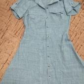 Рубашка - платье серого цвета, S-M, новое