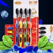 Набор 4 шт бамбуковых зубных щёток «NANO» 3 вида одни на выбор. Нужный подарок.