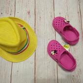 Классные шлепки , тапки, сабо, сандали , кроксы с минни на девочку р. 26