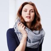 Мягкий шарф снуд - хомут Tchibo (Германия), 160х100см