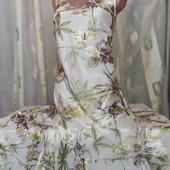 Шифоновое платье с шелковыми цветами