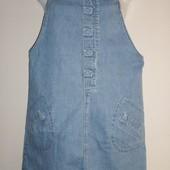 Крутой джинсовый сарафан,пот-46 см