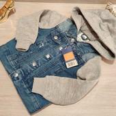 Германия!!! Крутая джинсовая курточка для малыша! 92 рост, маломерит на 86!