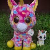Любимая детская мягкая игрушка разноцветныйВеликан Единорог глазастик! Высота 45см!