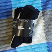 Отличные женские носки 5 пар Esmara Германия размер 35-38