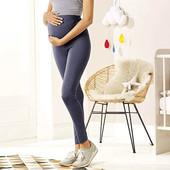 синие летние лосины для беременных р.S (95% котон, 5% эласта)