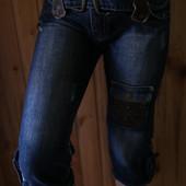 Интересные джинсовые бриджи egoiste
