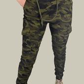 Женские стрейчевые джеггенсы с карманами, пояс резинка. Размер на выбор.