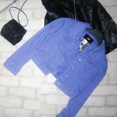 Крутая denim курточка лавандового цвета