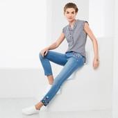 Качественные джинсы с вышивкой,моделирующие фигуру Slimfit,Tchibo(Германия),р. наши: 44-46(38 евро)
