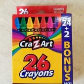 Восковые карандаши 26 шт.