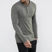 Стильная мужская футболка поло с длинным рукавом,Esquire. Размер M. Реальное фото 2!