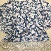 Нежная блузка с кружевом 16 размер George