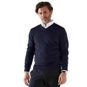 ⚙ Стильный пуловер, 100% шерсть (Меринос) от Tchibo (Германия), р: 46/48/50 (48 евро), см. замеры