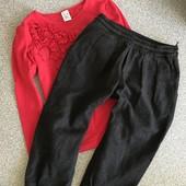 Набор реглан+штани zara, наборчик тонкая кофта и брючки 2-4 г