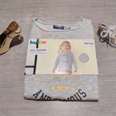 Германия!!! Стильный коттоновый свитшот для девочки! 98/104!