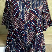 Собираем лоты!! Рубашка - блуза с необычным кроем, размер 10