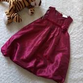 Ciraf Нарядное  атласное платье на девочку. размер  86,92
