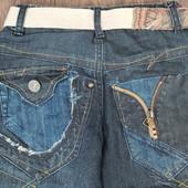 Крутые джинсы с ремнём Chintonku на рост 130/135см
