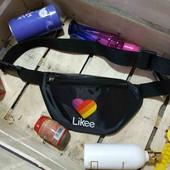 Молодежная сумка-бананка, поясная сумка в ассортименте Likee цветная (в лоте любая на выбор)