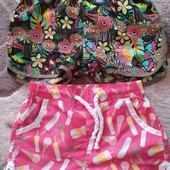 Шортики шорты для девочки 8-10 лет 2 пары .Состояние новых.