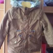 Куртка, еврозима, внутри шерпа, размер 3-4 года 98-104 см, Rebel by Primark. состояние отличное