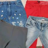 Большой лот, юбка, джинсы, кюлоты, брюки