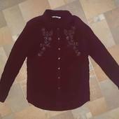Шикарная рубашка с бисером размер M-L