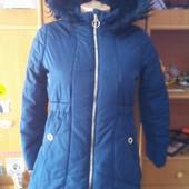 Куртка зима, внутри шерпа, размер 9-10 лет 140 см, TU. состояние отличное