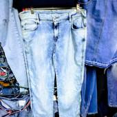 Новые турецкие джинсы, большой размер, поб 53 см, пот 42 см. Высокая посадка