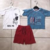 Стоп! ❤️ Стильный комплект: шорты и футболки для мальчика. Много лотов, заходите)