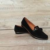 Кожаные женские туфли 37 размера