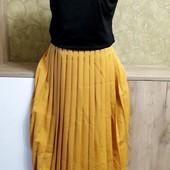 Собираем лоты!! Комплект юбка плиссе +топ, размер 14