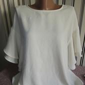 Блуза H&M з воланами рукавами,розмір8(пог56)
