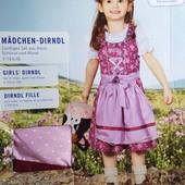 Оригинальный комплект платье, фартук и блузка на девочку Lupilu Германия размер 104
