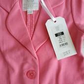 Модный фирменный Пиджак для девочки, размер 104