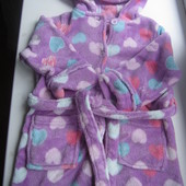 Мягкий плюшевый халатик на девочку, возраст 2-3 года в хорошем состоянии