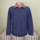 Фирменный свитер с имитацией рубашки Marks&Spencer (Маркс и Спенсер), на 9-10 лет, рост 140см