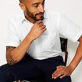 ❤️Marks&Spencer Бангладеш❤️фирменная рубашка slim fit короткий рукав легкая глажка крутая! 39\40
