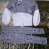 Брючный школьный костюм р.134 полномерный
