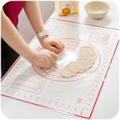 Армированый термостойкий силиконовый коврик 60*40см для раскатки теста, выпекания и заморозки! УП-5%